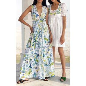 Banjanan Jardin Embroidered Cotton Mini Dress